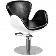 AMSTERDAM kirpyklos kėdė, juodai balta