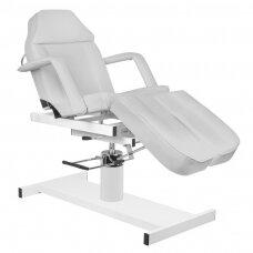 Kosmetologinė hidraulinė lova/gultas A 210C PEDI, pilka su reguliuojamu sėdynės kampu