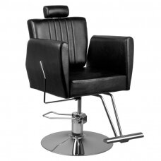 HAIR SYSTEM 0-179 barberio kėdė, juoda