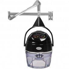 Profesionalus montuojamas plaukų džiovintuvas kirpykloms GABBIANO DII-301W (2 greičių funkcija), juodos spalvos
