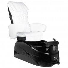 SPA kėdė pedikiūrui su masažo funkcija AS-122, juodai-balta