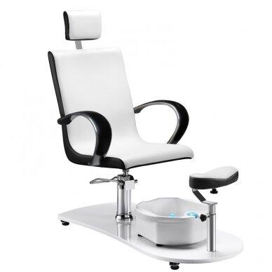 SPA fotelis pedikiūrui su masažo funkcija 308, baltas