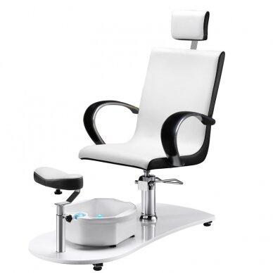 SPA fotelis pedikiūrui su masažo funkcija 308, baltas 2