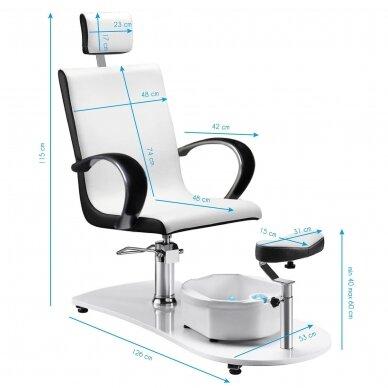 SPA fotelis pedikiūrui su masažo funkcija 308, baltas 5