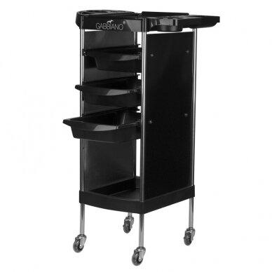 GABBIANO FX11-A kirpėjo vežimėlis, juodas
