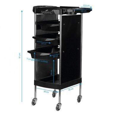 GABBIANO FX11-A kirpėjo vežimėlis, juodas 4