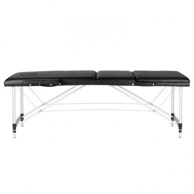 Sulankstomas stalas masažui, 3 dalių -  juodas 2