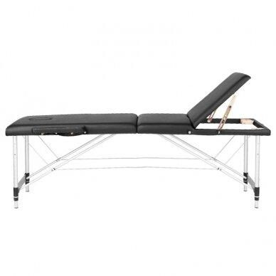 Sulankstomas stalas masažui, 3 dalių -  juodas 3