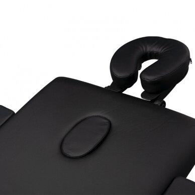 Sulankstomas stalas masažui, 3 dalių -  juodas 6