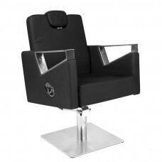 Profesionali barberio kėdė kirpykloms ir grožio salonams GABBIANO VILNIUS, juodos spalvos