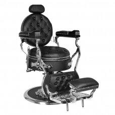 Profesionali barberio kėdė kirpykloms ir grožio salonams GABBIANO CESARE SILVER