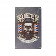 Dekoratyvinė lentelė grožio salonams ir barberių kirpykloms BARBER B014