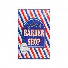 Dekoratyvinė lentelė grožio salonams ir barberių kirpykloms BARBER C012