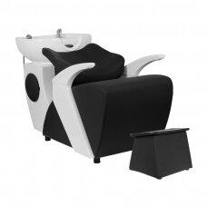 Profesionali kirpyklos plautuvė GABBIANO C024, juodai baltos spalvos