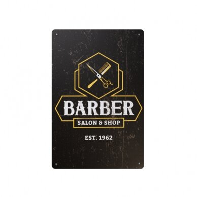 Dekoratyvinė lentelė grožio salonams ir barberių kirpykloms BARBER B035