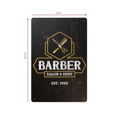 Dekoratyvinė lentelė grožio salonams ir barberių kirpykloms BARBER B035 2
