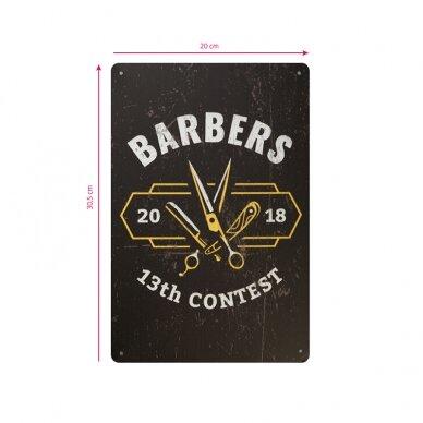 Dekoratyvinė lentelė grožio salonams ir barberių kirpykloms BARBER B038 2