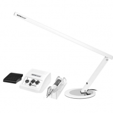 ACTIV POWER elektrinė freza JD500 35w, (30.000 apsukos) +stalo lempa (20W), balta
