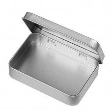 Aliuminio indas įrankiams laikyti, sterilizuoti su dangteliu