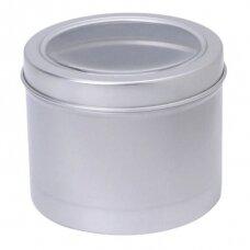 Aliuminio indelis su permatomu dangteliu įrankių mirkimui