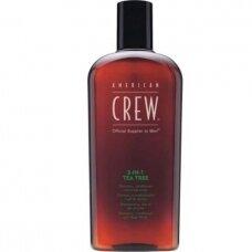 American Crew 3in1 Tea Tree - šampūnas /kondicionierius/ dušo želė, 450 ml.