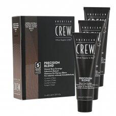 AMERICAN CREW BLEND MEDIUM NATURAL plaukų dažai vyrams (4-5) 3*40 ml