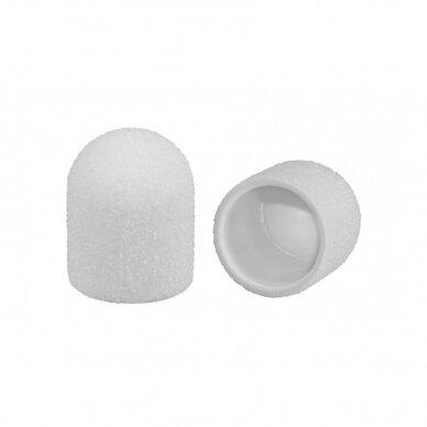 Antgaliai pedikiūrui WHITE LUX 13 mm, #60 (10 vnt.)