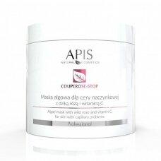 APIS COUPEROUS STOP alginatinė dumblių kaukė kapiliarinei odai, 200 g.