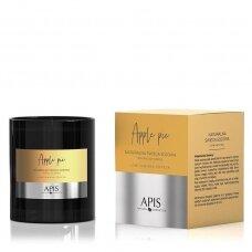 APIS natūralios sojos aromaterapinė žvakė APPLE PIE, 220 g.
