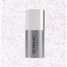 Apsauginis lako sluoksnis be lipnumo Semilac T17 Top No Wipe Sparkling Pink 7 ml