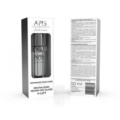 APIS ADVANCED SKIN CARE REVITALIZING NEURO DAY ELIXIR LIFT veido odos eliksyras itin greitai liftinguojantis veido ovalą, 50 ml
