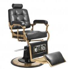 Barberio kėdė BOSS stilius, juodos spalvos