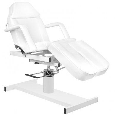 Balta hidraulinė pedikiūro kėdė lova 2