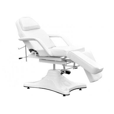 Balta hidraulinė pedikiūro kėdė lova