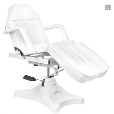 Balta hidraulinė pedikiūro kėdė lova 8