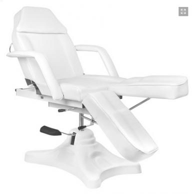 Balta hidraulinė pedikiūro kėdė lova 7