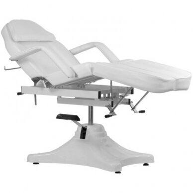 Balta hidraulinė pedikiūro kėdė lova 5