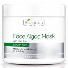 BIELENDA odos spalvą atkūrianti veido kaukė su spirulinu, papilkėjusiai odai, 190 g.
