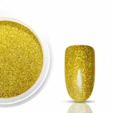 Blizgučiai nagams HOLO, 1 vnt., auksinės spalvos