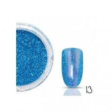 Blizgučiai nagams HOLO, 1 vnt., mėlynos spalvos