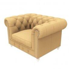 Chesterfield stiliaus laukiamojo fotelis DUKE