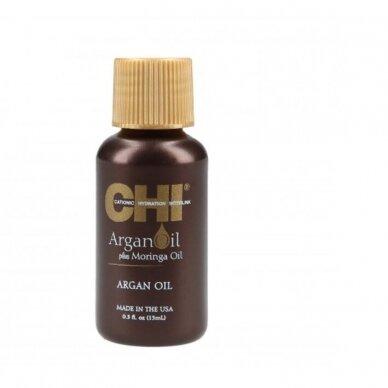 CHI Argan Oil Plus Moringa Oil Argano ir moringų aliejus plaukams, 15 ml.