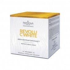 FARMONA REVOLU C WHITE naktinis restrukturizuojantis veido kremas su vitaminu C ir shikimic rūgštimis, 50 ml
