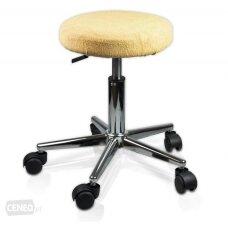 Frotinis meistro kėdutės užvalkalas kreminės spalvos