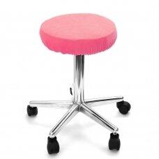 Frotinis meistro kėdutės užvalkalas rožinės spalvos