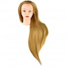 Galva mokymams, gintariniai plaukai, 80 cm, terminiai