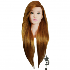 Galva mokymams PAULA, 80 cm naturalūs plaukai