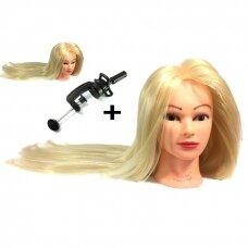 Galva mokymams, šviesūs plaukai, 80 cm, terminiai