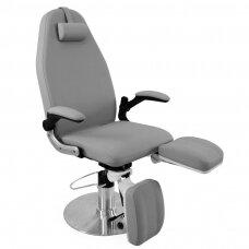Hidraulinė kosmetologinė kėdė pedikiūro procedūroms, pilka