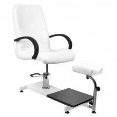 Hidraulinė SPA/pedikiūro kėdė su pakoju, balta
